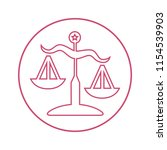 justice scale outline icon | Shutterstock .eps vector #1154539903