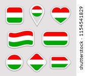 hungary flag vector set.... | Shutterstock .eps vector #1154541829