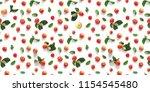 seamless pattern of fresh red ...   Shutterstock . vector #1154545480