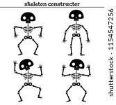 funny human skeleton... | Shutterstock .eps vector #1154547256