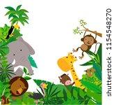 african animals frame  | Shutterstock .eps vector #1154548270
