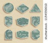 set of nine empty topographic... | Shutterstock .eps vector #1154550010