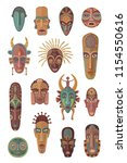 vector collection of fifteen... | Shutterstock .eps vector #1154550616