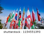 asian countries flags in front... | Shutterstock . vector #1154551393