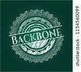 backbone on blackboard | Shutterstock .eps vector #1154560099