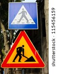 construction zone and...   Shutterstock . vector #115456159