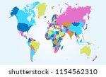 color world map vector | Shutterstock .eps vector #1154562310