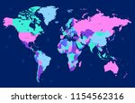 color world map vector | Shutterstock .eps vector #1154562316