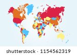 color world map vector   Shutterstock .eps vector #1154562319