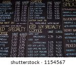 Chalkboard Coffee Sign - stock photo