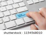 license agreement concept.... | Shutterstock . vector #1154568010