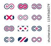 infinity symbols vector | Shutterstock .eps vector #1154568379