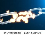 the metal chain is disconnected ... | Shutterstock . vector #1154568406