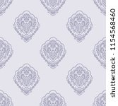 vector damask seamless pattern... | Shutterstock .eps vector #1154568460