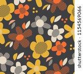 vintage colors geometric floral ... | Shutterstock .eps vector #1154569066