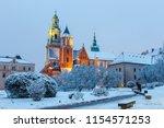 wawel castle in krakow at...   Shutterstock . vector #1154571253