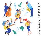 street performance. street... | Shutterstock .eps vector #1154571910