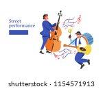 street performance. street... | Shutterstock .eps vector #1154571913