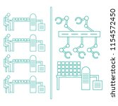 smart automatic robotic... | Shutterstock .eps vector #1154572450