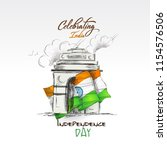 independence day celebration ... | Shutterstock .eps vector #1154576506
