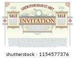 vector template. advertisements ... | Shutterstock .eps vector #1154577376