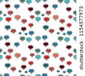 seamless raster love pattern... | Shutterstock .eps vector #1154577973