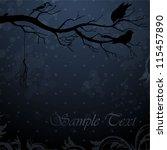 dark winter background with... | Shutterstock .eps vector #115457890