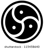 vector emblem of bdsm | Shutterstock .eps vector #115458640