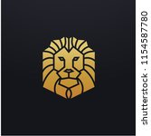 stylized lion head icon... | Shutterstock .eps vector #1154587780
