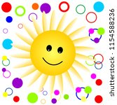 happy smiling sun pattern.... | Shutterstock .eps vector #1154588236
