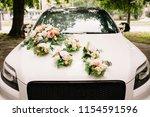 Beautiful Wedding Car. Front Of ...