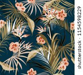 vector seamless beautiful... | Shutterstock .eps vector #1154598229