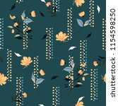 retro  blowing garden flowers... | Shutterstock .eps vector #1154598250