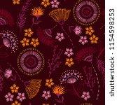trendy  seamless pattern... | Shutterstock .eps vector #1154598253