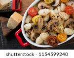 close up of italian gnocchi...   Shutterstock . vector #1154599240