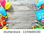 frame of various decoration... | Shutterstock . vector #1154600140