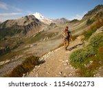 hiker along the ptarmigan ridge ... | Shutterstock . vector #1154602273