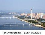 pyongyang  north korea  dprk    ... | Shutterstock . vector #1154602396