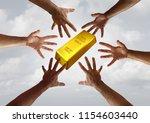 gold demand and global... | Shutterstock . vector #1154603440