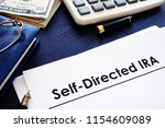 self directed ira sdira... | Shutterstock . vector #1154609089