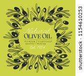 olive tree banner template.... | Shutterstock .eps vector #1154610253