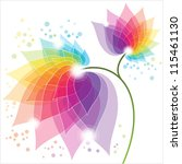 colorful abstract flower | Shutterstock .eps vector #115461130