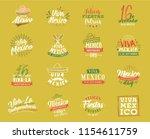viva mexico. mexico... | Shutterstock .eps vector #1154611759