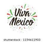 viva mexico. mexico... | Shutterstock .eps vector #1154611903