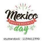 viva mexico. mexico... | Shutterstock .eps vector #1154611990