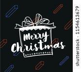 merry christmas. typography.... | Shutterstock .eps vector #1154613679