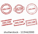 online stamps | Shutterstock .eps vector #115462000