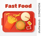 fast food lunch vector icon ... | Shutterstock .eps vector #1154624356
