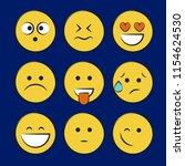 set of smile icons. emoji.... | Shutterstock .eps vector #1154624530