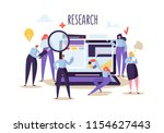 business research and analysis... | Shutterstock .eps vector #1154627443